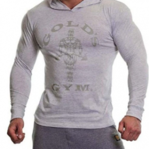 Gold's Gym Long Sleeve Hoodie White Marl