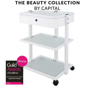 Capital Pro Beauty Trolley with Drawer – White