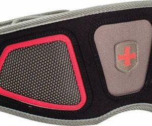 Contoured FlexFit Belt , Red/Gray Small