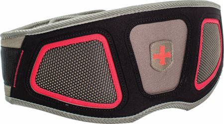 Contoured FlexFit Belt Red Gray Small