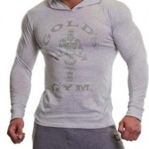 Gold's Gym Long Sleeve Hoodie White Marl