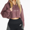 Pursue Fitness Oversized Crop Hoodie Purple